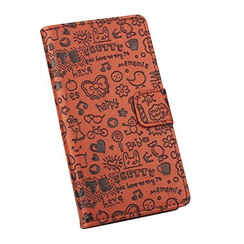 Easbuy Mit Cartoon Pattern Pu Leder Kunstleder Flip Cover Tasche Handyhülle Case Mit Karte Slot Design Hülle Etui für Oukitel C5 Pro Smartphone Handytasche