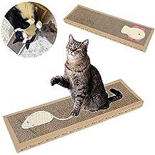 Woopower - Almohadilla corrugada para gato y gato para jugar a los arañazos, caja de