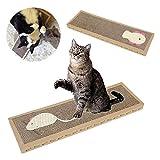 Woopower Pet Cat scratch Play Pad, ondulato sicuro della tavola tiragraffi giocattolo macinazione strumento–37*12*2cm