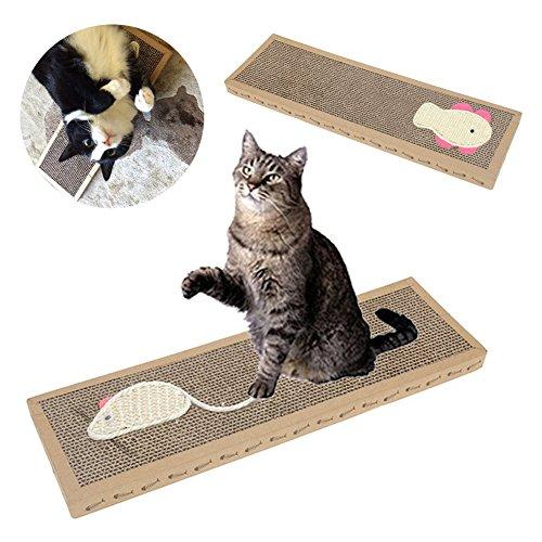 Especificaciones: Material: papel corrugado. Tamaño: 37 x 12 x 2 cm (largo x ancho x alto). Satisface los instintos de arañazos naturales de tu gato. Peso ligero con el diseño de panal, duradero y más divertido para tu gato. Hecho de cartón ondulado,...