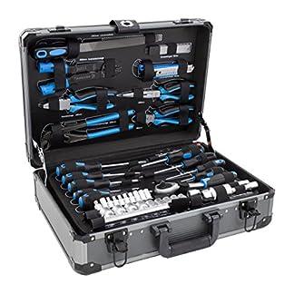 Karcher maletín de herramientas – 101 piezas incluye martillo, alicates, juego de destornilladores, llave de carraca, sierra, cinta métrica y mucho mas