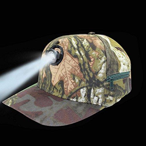 NACHEN LED Kappe Basecap Schildmütze LED Hut Käppi mit LEDs Blinkt für Party Club Bar Sportlich Reise, Wird mit Batterien geliefert,Camouflage