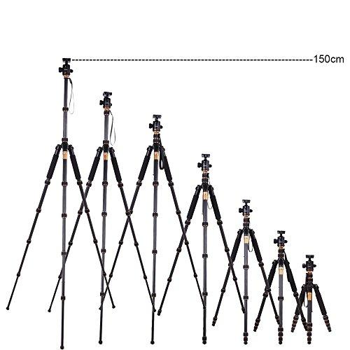 Andoer-Pro-Q666C-Treppiedi-Monopod-in-Carbonio-con-Testa-a-Sfera-Traveling-Tripod-per-Fotocamera-Reflex-Testa-a-Sfera