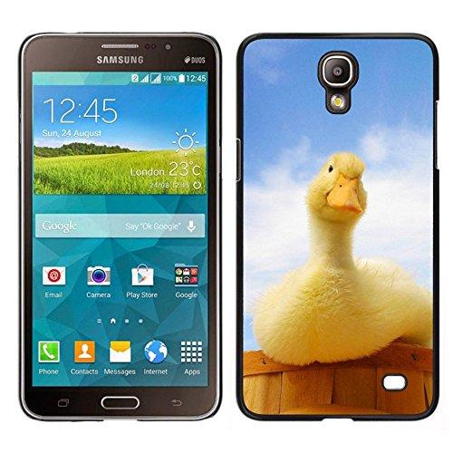 Dura del PC Custodia Protettiva Cellulare Caso Hard Protective Case Smartphone Cover for Samsung Galaxy Mega 2 // Anatra Giallo Blu Farm Country Anatroccolo // CooleCell