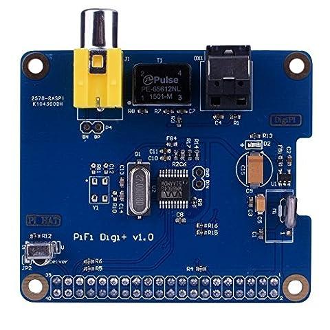 longruner pifi Digi DAC + HiFi DAC Audio Sound Karte Modul I2S-Schnittstelle für Raspberry Pi 32Model B B + Digital Audio Karte Pinnwand 2.0Board (SC07)
