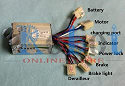 Motor Controller for 24v 350W MY1016, DIY Electric Bicycle Kit