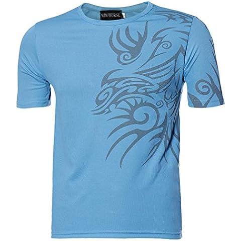 Fortan Manga corta Camisetas Camisetas de deporte de los hombres de diseño compacto que basa la camisa