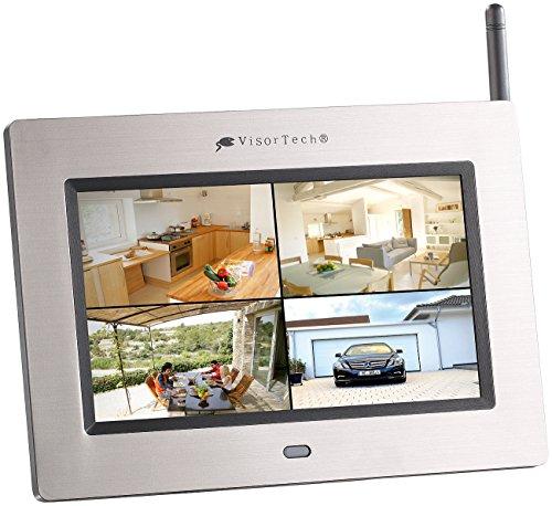 """VisorTech Überwachungsmonitor: 17,8 cm (7\"""") Überwachungs-Monitor mit Aufnahme-Funktion (Funkkamera mit Monitor)"""