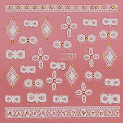 EVTECH (TM) 5 PCS Nail Art Nail Sticker outil 3D Autocollant Craved Fleurs Papillon Coeur amour Sourire Blossom Belle Nail Sticker Tatoo