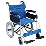 Rollstuhl-leichte Faltende Transport-Reise-tragbare Ältere Behinderte Aluminiumlegierungs-manuelles Rollstuhlhaus Mit Handbremse (Style : B)