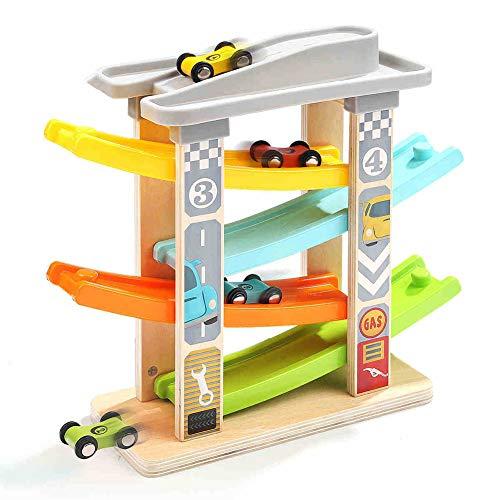 Yyz Junge Baby Holzspielzeug Auto Zug Bausteine   Modell rutschig Spur Kinderauto Puzzle Vorschule Set Geburtstagsgeschenk - Züge, Autos Modell