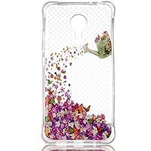 Voguecase® Para Meizu MX5,TPU Funda de Silicona de Gel Carcasa Tapa Case Cover (Hollow-flores de riego) + Gratis aguja de la pantalla stylus universales