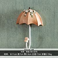 FuRongHuang The Living Room Decoration Umbrella Hook Key Hook Hook Wall Princess Dress Coat Hook,Beige With Apex Umbrella