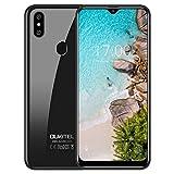 OUKITEL C15 Pro (3Go+32Go) - Télephone Portable Débloqué Pas Cher 4G -2019 Smartphone Android 9,0 Mobile 6.088 Pouces 19:9 HD+Goutte deau, MT6761 Quad-Core Dual SIM Dual 8+5MP FaceID Fingerprint-Noir