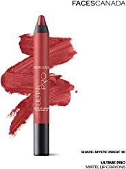 Faces Canada Ultime Pro Matte Lip Crayon Mystic Magic 30 2.8 g With Free Sharpener (Maroon)