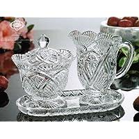 Godinger 34507 Shannon Crystal Chatham Sugar Bowl And Creamer Set