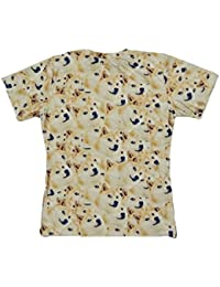Ninimour Women's Men's Unisex Tops Animal Pet Dog Cat Printed Pattern O Neck Short Sleeve Loose Casual T Shirt