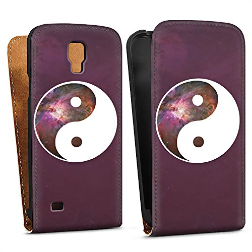 DeinDesign Samsung Galaxy S4 Active Tasche Hülle Flip Case Ying Yang Galaxy Galaxie