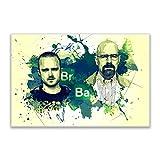 Kunstbruder Breaking Bad Color (Div. Größen) - Kunst Druck auf Leinwand 60x90cm