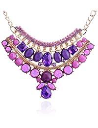 5710cf867c81 Lureme® amatista joyas de fantasía de imitación y la gota de agua joya  collar de