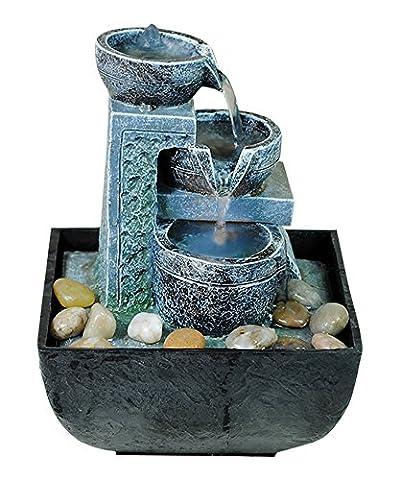 Zimmer-Brunnen Set mit Stromstecker und Pumpe Schalen