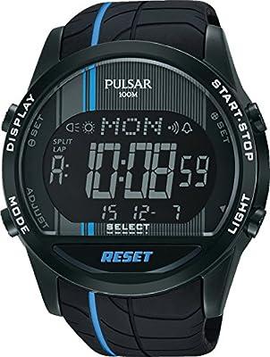 Pulsar Unisex Analogue Watch with Black Dial Analog - Digital Display - PV4007X1