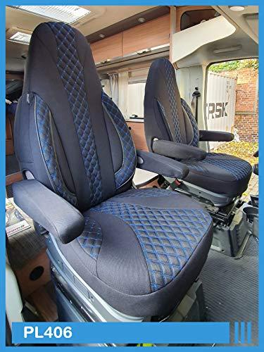 Maß Sitzbezüge kompatibel mit FIAT Ducato 250 Fahrer & Beifahrer ab BJ 2006 Farbnummer: PL406