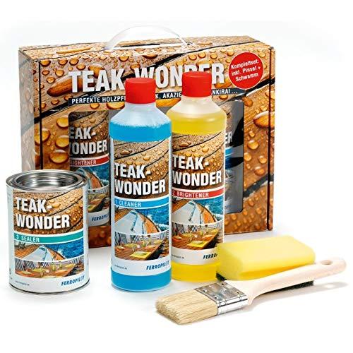 Ferropilot Teak-Wonder Holzpflege Reiniger Aufheller Versiegelung