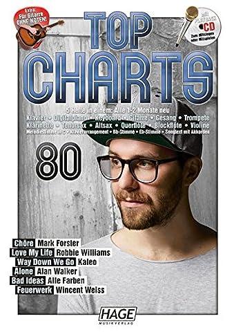 Top Charts 80 (mit CD): Die aktuellsten Hits der erfolgreichsten Stars und das Beste aus den (Hits Songbook)