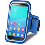 Theoutlettablet® Brazalete Neopreno deportivo para running - correr - para transporte Smartphone Wolder WIAM #71 Color AZUL