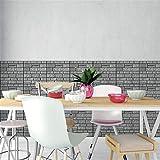 Mitlfuny Haus & Garten ->Ziegelstein-rustikaler Effekt des Wand-3D 3D Selbstklebender Wandaufkleber-Hauptdekor