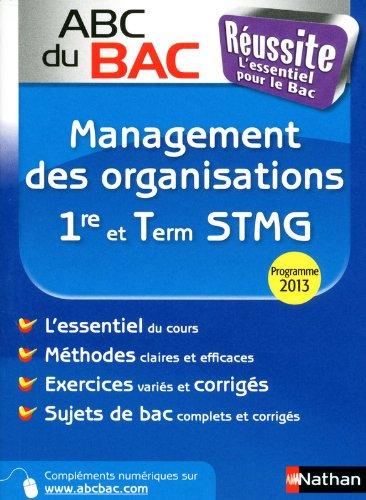 ABC du BAC Russite Management des organisations 1re et Term STMG