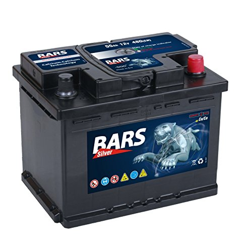 Bars Silver Autobatterie 12V 55Ah 480A Starterbatterie Wartungsfrei
