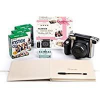 Fujifilm Wide 300 Camera, Wedding Bundle Edition - Black