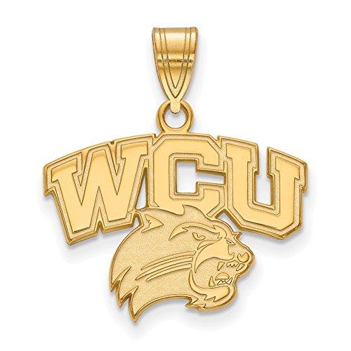 Lex & LU logoart vergoldet Sterling Silber Western Carolina University Medium Anhänger lal156193 Western Carolina University