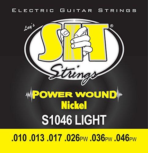 SIT 10-46 Powerwound - Muta di corde per chitarra elettrica, al nichel, tensione: Light
