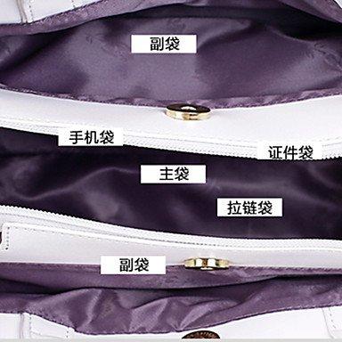 Ladies'Leisure und neue Blume One-Schulter Bag Handtasche White