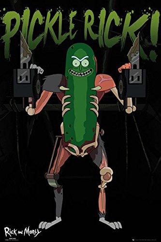 Póster Rick & Morty - Pickle Rick! (61cm x 91,5cm) + 1 póster sorpre