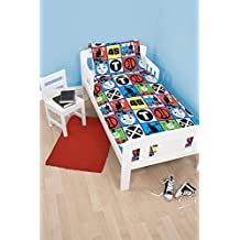 Children's Cot Bed / Junior / Toddler Bed Duvet Cover and Pillowcase Sets - 120cm x 150cm (Thomas the Tank Engine 'Team')