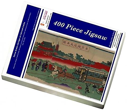 Photo Jigsaw Puzzle of Horse drawn carriage on railroad tracks