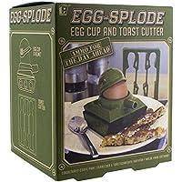 Paladone Produkte Egg-splode Tank Eierbecher und Toast Cutter, Mehrfarbig