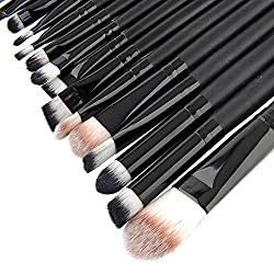 MSmask 20-teilig Profi Make-up Pinsel Lidschattenpinsel Rougepinsel Brush