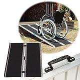 TRUTZHOLM Rollstuhlrampe 184cm 272 kg mit Friktionsbeschichtung klappbar Alu Auffahrrampe Rampe