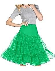 Mujer Dressystar 50s Vintage Rockabilly enaguas under Skirt tutú en varios colores