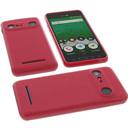 foto-kontor Funda para Doro 8035 Protectora de Goma TPU para móvil roja