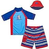 UV Skinz Toddler Boy's 3-piece Swim Set