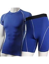 YiJee Conjunto Camiseta de Manga Corta y Pantalones de Fitness para Hombre