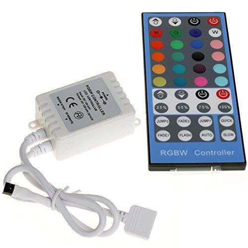 Preisvergleich Produktbild Dimmer Schalter mit IR Fernbedienung 12V 24V 2A 4 Kanälen für RGBW RGB+W LED Bänder Leuchtstreifen Helligkeit Geschwindigkeit Modus Verstellbar