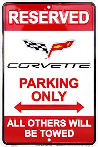 chevrolet-corvette-parking-targa-placca-metallo-piatto-nuovo-30x20cm-vs257-1