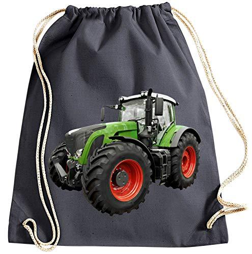 Farbige Ernte (Blackshirt Company Traktor Turnbeutel Schlepper Rucksack Sportbag Farbig Farbe Grau)